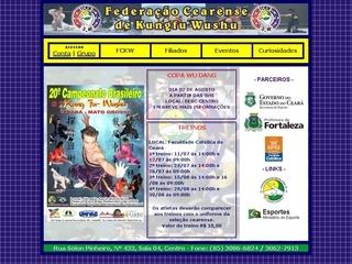 Thumbnail do site FCKW - Federação Cearense de Kungfu Wushu