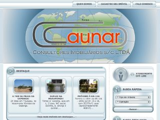 Thumbnail do site Aunar Consultores Imobiliários