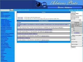 Thumbnail do site Adriano Pinto - Direito & Cidadania