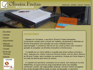 Thumbnail do site Oliveira Freitas Advocacia