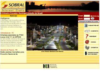 Thumbnail do site Sobral Internet Grátis