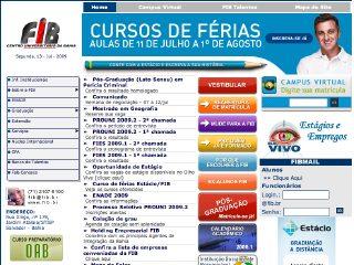 Thumbnail do site FIB: Centro Universitário da Bahia