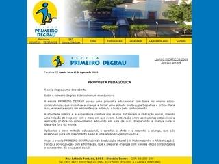 Thumbnail do site Escola Primeiro Degrau