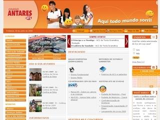 Thumbnail do site Colégio Antares