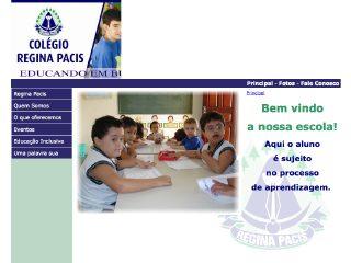 Thumbnail do site Colégio Regina Pacis