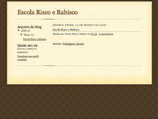 Thumbnail do site Escola Risco Rabisco