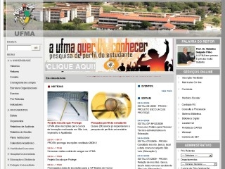 Thumbnail do site UFMA - Universidade Federal do Maranhão