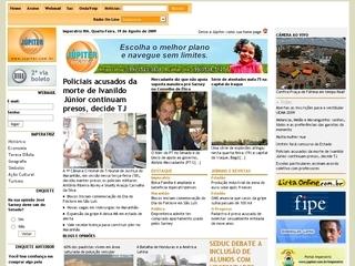 Thumbnail do site Júpiter Telecomunicações