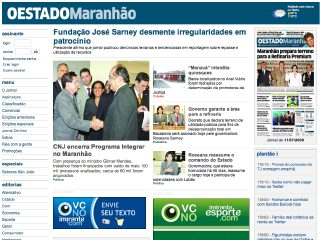 Thumbnail do site O Estado do Maranhão