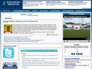 Thumbnail do site Maranhão Esportes
