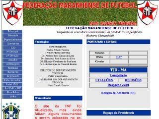 Thumbnail do site FMF - Federação Maranhense de Futebol