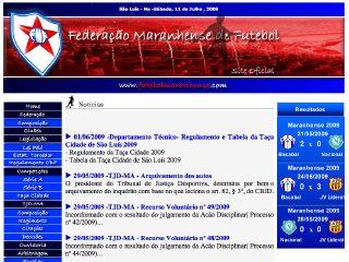 Thumbnail do site FMF - Federação Maranhense de Futebol (site oficial)