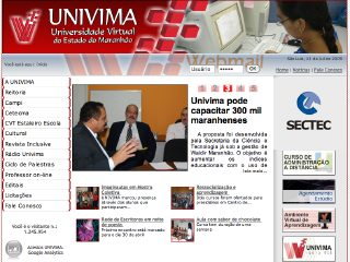 Thumbnail do site UNIVIMA - Universidade Virtual do Maranhão