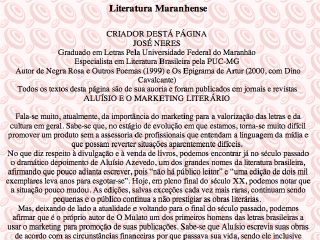 Thumbnail do site Literatura Maranhense
