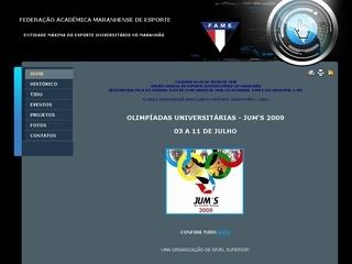 Thumbnail do site FAME - Federação Acadêmica Maranhense de Esportes