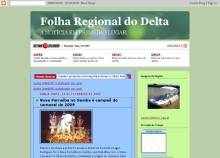 Thumbnail do site Folha Regional do Delta