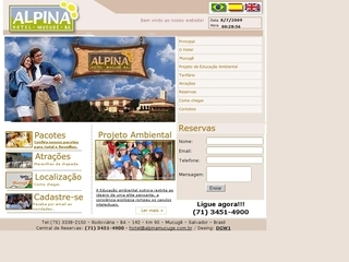 Thumbnail do site Alpina Eco Resort