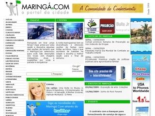 Thumbnail do site Maringá.com