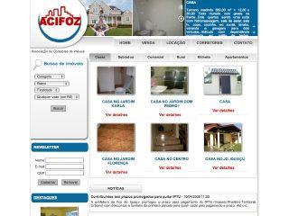 Thumbnail do site ACIFOZ:: Associação dos corretores de imóveis de Foz do Iguaçu