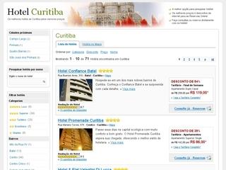 Thumbnail do site Hoteis em Curitiba