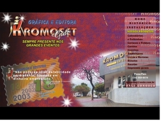 Thumbnail do site Kromoset Artes Graficas