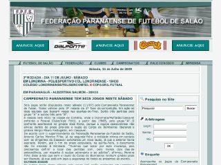 Thumbnail do site Federação Paranaense de Futebol de Salão