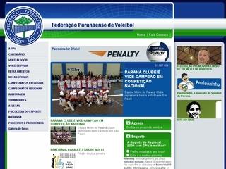 Thumbnail do site Federação Paranaense de Voleibol