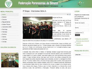 Thumbnail do site FPS - Federação Paranaense de Sinuca
