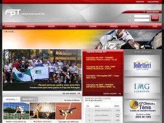 Thumbnail do site FPT - Federação Paranaense de Tênis