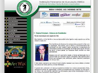 Thumbnail do site FPMA - Federação Paranaense de Musculação Atlética