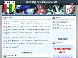 Thumbnail do site Federação Paranaense de Judô