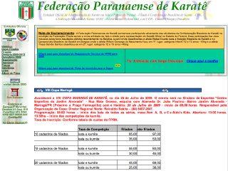 Thumbnail do site Federação Paranaense de Karatê