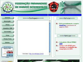 Thumbnail do site Federação Paranaense de Karatê Interestilos