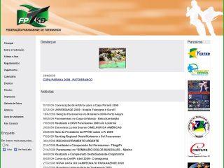 Thumbnail do site Federação Paranaense de Taekwondo