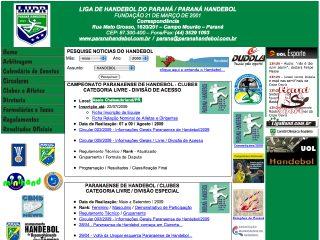 Thumbnail do site LHPR - Liga de Handebol do Paraná