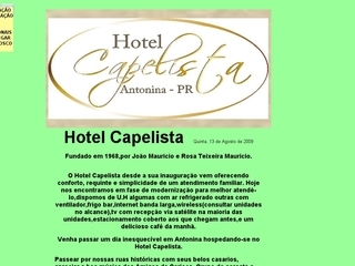 Thumbnail do site Hotel Capelista