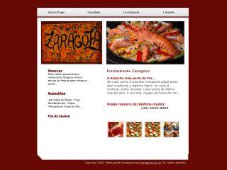Thumbnail do site Restaurante Zaragoza - A Espanha mais perto de Foz...