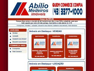 Thumbnail do site Abilio Medeiros Imóveis