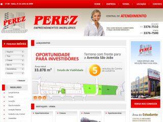 Thumbnail do site Imobiliária Perez