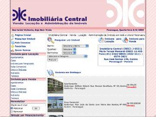 Thumbnail do site Imobiliária Central