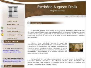 Thumbnail do site Escritório Augusto Prolik Advogados Associados