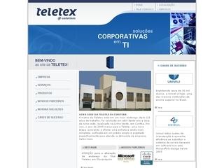 Thumbnail do site Teletex Computadores e Sistemas