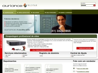 Thumbnail do site Auriance Assessoria de Informática Ltda.