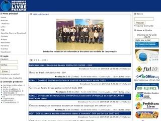 Thumbnail do site Movimento Software Livre Paraná