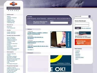 Thumbnail do site Assespro Paraná