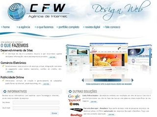 Thumbnail do site CFW Agencia de Internet