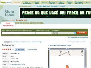 Thumbnail do site Restaurante Peruano Pachamama