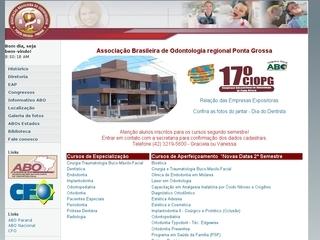Thumbnail do site Associação Brasileira de Odontologia de Ponta Grossa