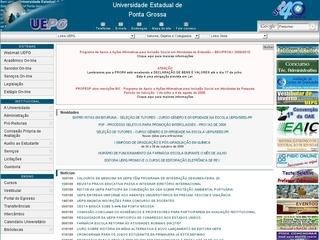 Thumbnail do site UEPG - Universidade Estadual de Ponta Grossa