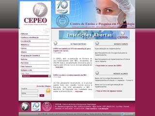 Thumbnail do site CEPEO - Centro de Ensino e Pesquisa em Odontologia